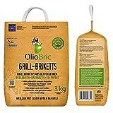 Olio Bric Grill-Brikett Grillkohle Olivenkernbriketts 3 kg Tüte
