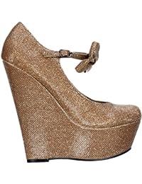 Onlineshoe Mujeres SeÃoras Mary Jane Alta Plataforma De La CuÃa Zapatos De  Proa - Nude Oscuro 77605125ed11