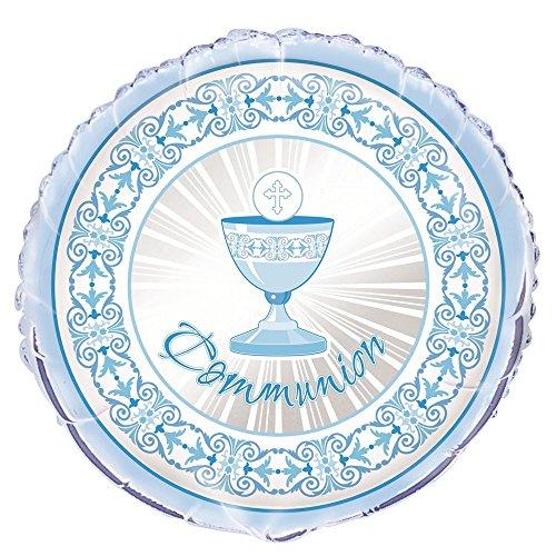 Unique Party Supplies 45,7cm Folie strahlend Kreuz blau First Communion Ballon