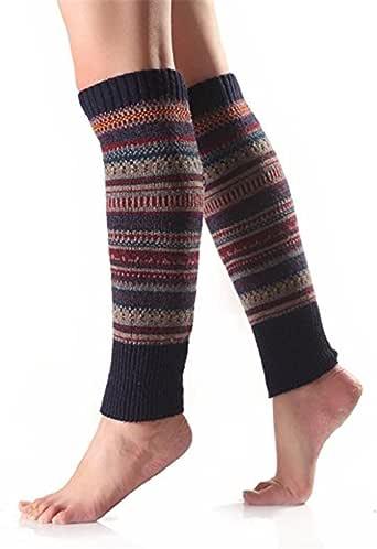 Greenlans Paire de jamnbières à rayures en laine pour femme
