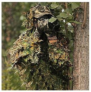 ZHhome Combinaison de Camouflage, Renfort de chiffrement, pour la Chasse Militaire Camo Army Tir Airsoft Photographie de la Faune, Couleur de Camouflage Feuille 3D