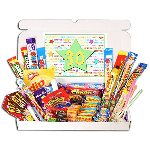 30th Birthday Sweets Gift Box - Fits through the letterbox!