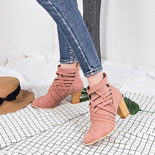 b508c3250fa60f Stiefel Damen Kolylong® Frauen Elegant Stiefeletten mit Absatz ...