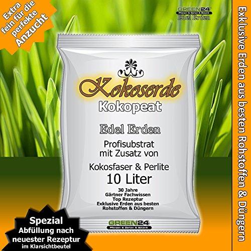 Kokos-Anzuchterde Premium für tropische und subtropische Pflanzen, Erde zur Aussaat 10 Ltr. - PROFI LINIE Substrat mit Kokopeat Kokosfaser Kokoserde (Phase Linie)