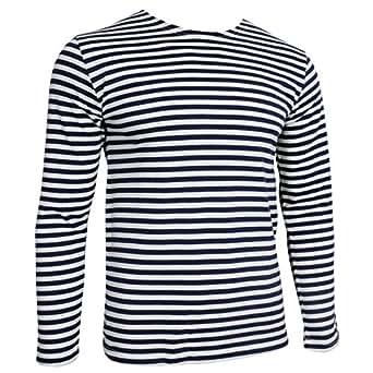 Bild nicht verfügbar. Keine Abbildung vorhanden für. Farbe: Russische  Marine Telnjaschka Langarmshirt - blaue Streifen ...