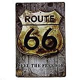 ABCTen Rétro Murale Plaque Poster Métallique Affiche Peinture Art Décoratif Vintage pour Bar Café Garage Pub 20cm x 30cm Metal Sign (Route 66)