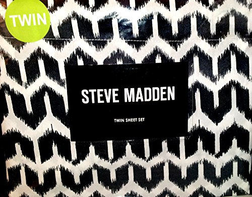 steve-madden-brye-black-and-brown-twin-sheet-set