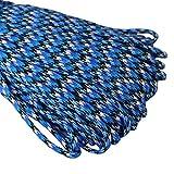 Paracord Seil Schnüre Nylon Outdoor Seil 100ft / Seil mit 4mm Stärke 7 Strängen Nylonschnur Fallschirmschnur Mehrzweck-Seil 250kg (550lbs) Bruchfestigkeit / Erhältlich in vielen verschiedenen Länge und Farben (U-007#, 100ft / 30m)