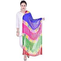 Veera Paridhaan Women Nazneen Bandhej Dupatta (Multi Colour, Free Size)
