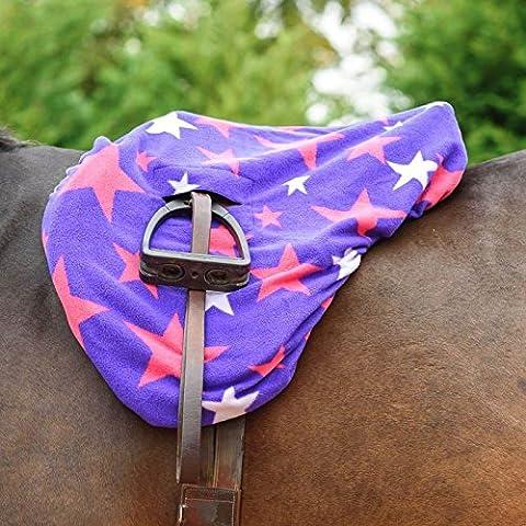 Meglio su cavallo Star, Sella, esterno in pile morbido Comfort equitazione protezione, Red, Cob