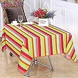 Tischdecke aus Polyester Oxford Tuch des Stoff rechteckig Haus Picnic staubresistent Antivegetativo Wasserdicht Weich Tabelle Premium, 145*240cm