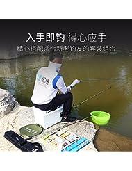 ZHUDJ Conjunto De Engranaje De Pesca Set De Pesca Ultra Light Pole 37 Carpas De Carbono Pole Pole Aparejos De Pesca Accesorios,Muy Buen Rey 5.4 Establecer