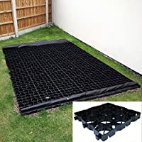 5ft x 4ft Eco Shed Base - 20 x TruePave Eco Friendly Plastic Paving Slabs, Drive & Path Support