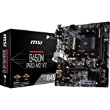 MSI B450M PRO M2 V2 AMD AM4 m-ATX Gaming with Core Boost and Turbo M.2 Motherboard
