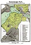 MAP 1898 KIESSLING BABELSBERGER PARK POTSDAM LARGE REPLICA