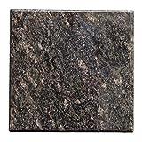 Tischplatte, Arbeitsplatte Küchenplatte 40cm x 40 cm, aus poliertem Granit, Unikat Handarbeit, 8 KG (Dunkelbraun)