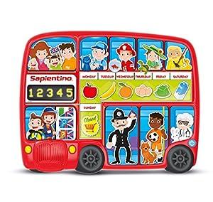 Clementoni My English Bus Pad Niño Niño/niña - Juegos educativos (Multicolor, Niño, Niño/niña, 4 año(s), Inglés, Italiano, Botones)