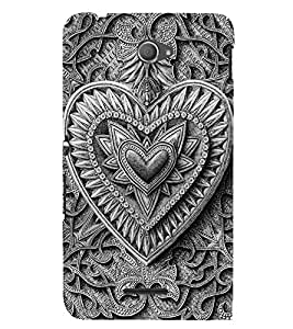 Decorative Heart Design 3D Hard Polycarbonate Designer Back Case Cover for Sony Xperia E4 Dual :: Sony Xperia E4