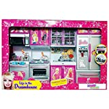 #8: Kids Choice Dream house Kids Choice Big Size Kitchen Modern Kitchen Set 4 Pcs