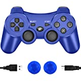 CFORWARD PS3 Controller Wireless, PS3 Joystick, Play 3 Remote Double Vibration 6-Axis Gamepad Compatible with Playstation 3 (