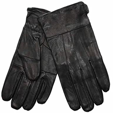 4a7d2220a062e New Mens Thermal Lined Soft Leather Warm Winter Dress Gloves M/L Black:  Amazon.co.uk: Clothing
