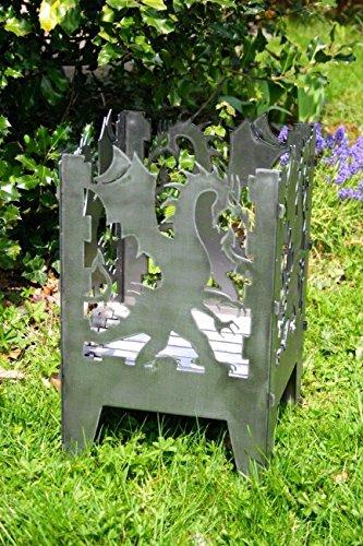 Feuerkorb Modell' Drache' Feuerstelle Größe L Feuersäule aus Stahl