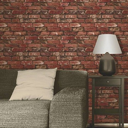 brewster-fd31285-rustic-brick-wallpaper-red