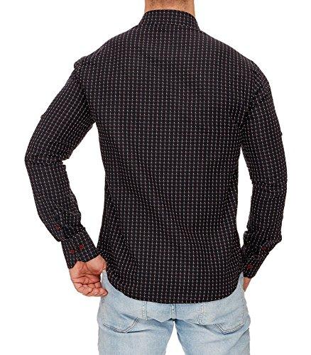 TAZZIO - Chemise chic pour homme Chemise 704 noir - Noir Noir