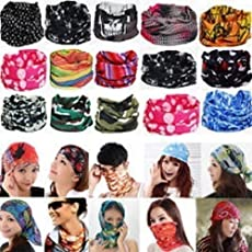 ZZ ZONEX Unisex Tube Head Bands, Free Size (ZZ ZONEX_123) - Set of 10