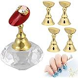1 Set Magnetico Nail Tips Stand Titolari,MWOOT Espositore per Puntali per Unghie Pratica Base in Cristallo per Salon DIY e Ma
