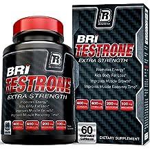 BRI Nutrition Testrone Supplement With Diindolylmethane, Tongkat Ali, Tribulus Terrestris, Magnesium Sulfate Anhydrous, Boron & Zinc - 30 Day Supply - 60 Capsules