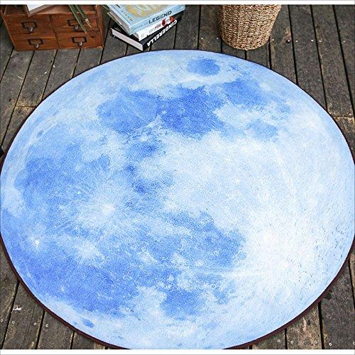 LILY Blue Moon Circular Mats, tapis de porte cuisine salle de bain, salon table basse chambre à coucher étude de tapis (Taille : 120 * 120CM)