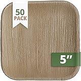 CaterEco Juego de platos cuadrados de hojas de palmera (50