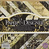"AsianHobbyCrafts Paper Designer by EnoGreeting : 7"" x7"" : (DSM009) : 36 patterned papers : Theme – Retro"