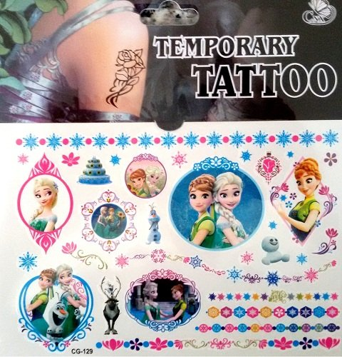 (Modell 11) Flash Tatoo temporäre Aufkleber mit Cartoon Zeichen Frozen Aufkleber Folie Aufkleber (Flash-tattoo-maker)