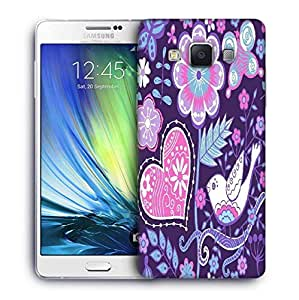 Snoogg seamless texture with flowers Designer Protective Back Case Cover For Samsung Galaxy A7