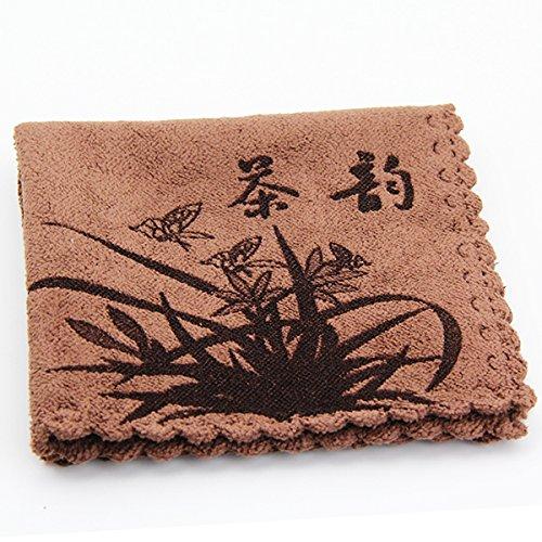 Bluelover Superfine Faser Geschirrtuch Super Wasseraufnahme Verdicken Geschirrtuch Kungfu Tee Mithelfer-Kaffee -