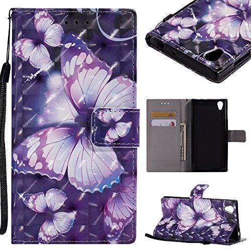 CHENJUAN 3D-Flash Painted Design für Sony Xperia E6 / Sony Xperia L1, PU-Leder aufgeteilter Flip-Cover (Pattern : 6)