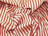 Inlett Streifen gewebt Baumwolle Möbelstoff, orange, Meterware