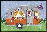 Fußmatte / Fussmatte / Fußabstreifer / Fußabtreter / Fussabstreifer / Fussabtreter / Schmutzmatte / Sauberlaufmatte / Türfussmatte / Türmatte / Schmutzfangmatte / Matte / Schmutzmatte / Abstreifer / Schuhmatte / Schuhabtreter - Camping - Wohnwagen - Outdoor - Luxus hochflor / Größe ca. 50 x 75 cm / repräsentative Fußmatte für Eingangsbereiche / Die Matte ist waschbar
