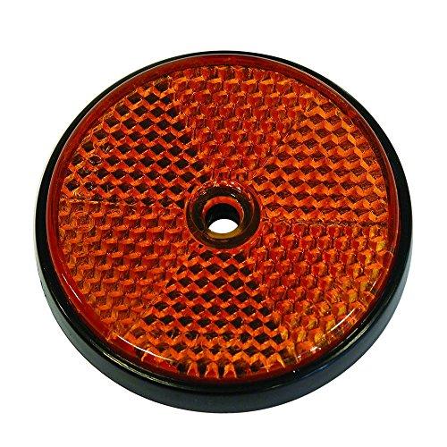 Catadioptrico Naranja Redondo 70mm 2p