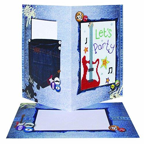 Anchor Stoffpuppen &Soft Toys Geburtstagskarte Gitarre Craft, Farbe, mehrfarbig (Stoff-diagramm Karte)