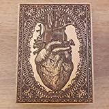 Human Heart - Woodcut Engraved Art, Doctor Gift, Medical Cabinet Decoration, Unique Design by Engravers Dungeon - 20 x 15 cm