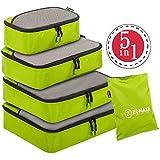 Set di 4 Cubi Di Imballaggio per i bagagli ,elementi di borsa d'immagazzinamento di viaggiare(verde)