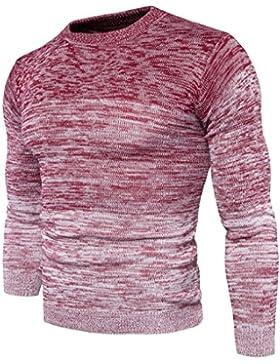 Redondas Otoño y Invierno Gradient 's Sweater Chaqueta Hombres Jersey Establece el Primer, Rojo, Medium