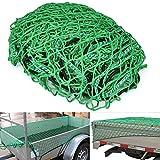 Yaheetech Anhängernetz Transportnetz Gepäcknetz Ladungssicherungsnetz 2 x 3 m für Anhänger