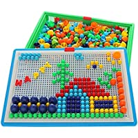 Blancho 620 PCS Intelligence Toys Insert Board Children Jigsaw Puzzles Mushroom Nails #