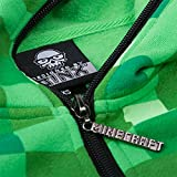 Elbenwald Minecraft Creeper Chaqueta con Capucha Verde Enredadera para niños con Capucha y Logotipo de Juego–10/11Jahre