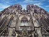 OKOUNOKO 300 Piezas Rompecabezas, Catedral De Colonia, Alemania, Decoración para El Juego De Juguetes para El Hogar, Gran Regalo Educativo, 38X26Cm