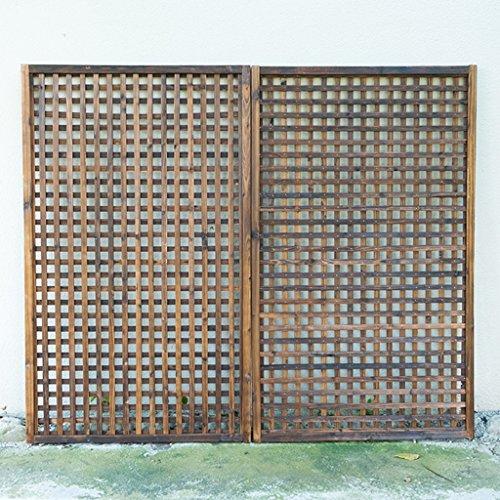 JAZS® Porte-fleurs, clôture en bois Bois mystérieux Carbonisation Anti-corrosion coupée Tirez sur le filet Clôture en bois Porte-fleurs en bois grille de clôture Grille d'escalade 30 × 90 cm protection de l'environnement raffinée ( taille : 60*90cm )